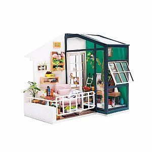 DIY 3D Minature Wooden House: Balcony