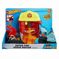 Hot Wheels® Super City Fire House Rescue Play Set