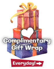 Complimentary Gift Wrap at Geppetos Toys